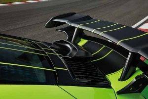 Aileron en fibre de carbone de la porsche 911 Techart GT Street R