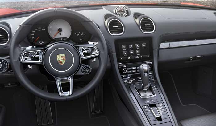 console interieur porsche 718 boxter s 2016