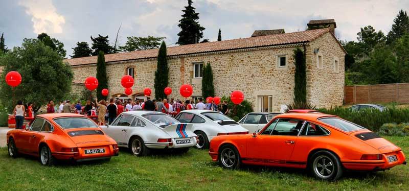 fête des classic Porsche Club Méditerranée