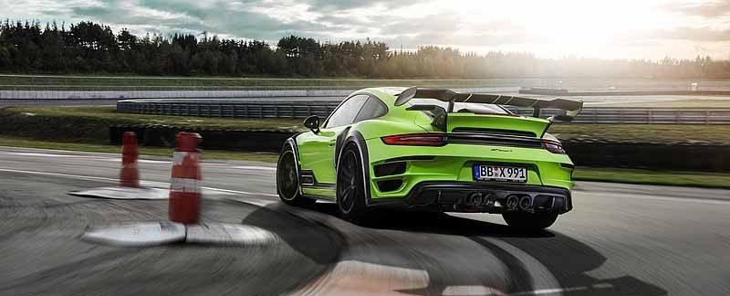 Porsche Techart GT STREET R sur circuit