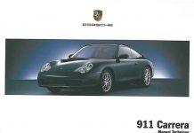 Manuel notice technique Porsche 911 996 Carrera S 4s 2002 2003 2004