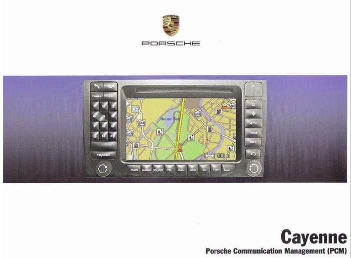 Manuel notice technique d'utilisation du PCM de la Porsche Cayenne 955 de 2003-2008