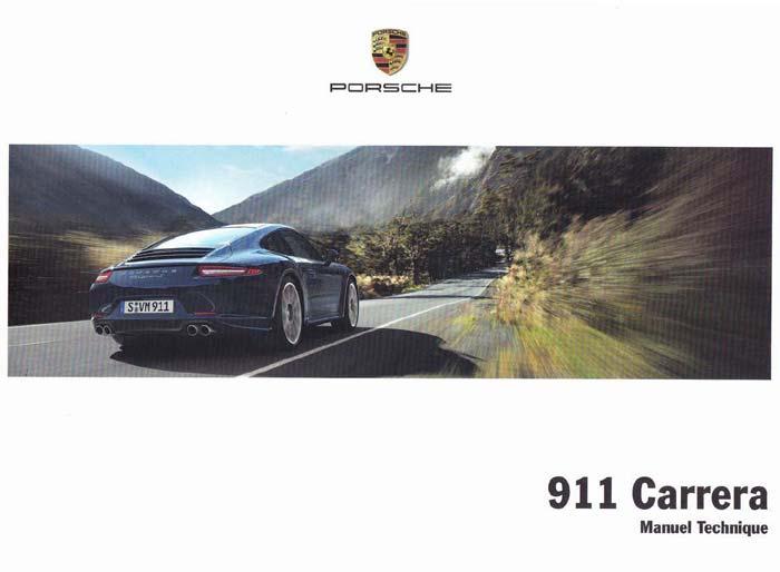 manuel et notice technique utilisation Porsche 911 991 carrera s 4s 2012-2015