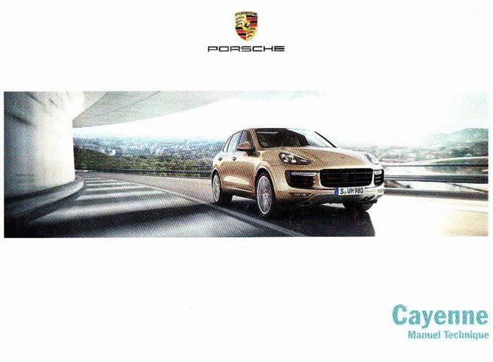 manuel & notice technique utilisation Porsche Cayenne Turbo GTS S Diesel 958 2015