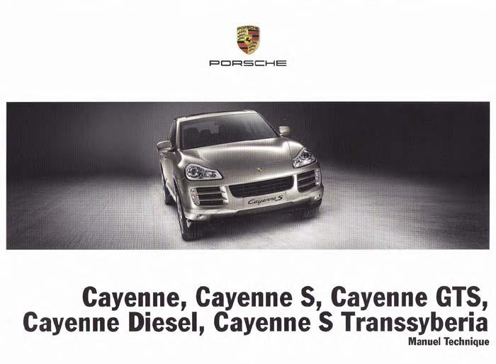 Manuel et notice technique Porsche Cayenne Turbo S diesel transsyberia 957 2008, 2009 et 2010