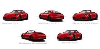 5 versions Porsche 991 GTS présentations Detroit