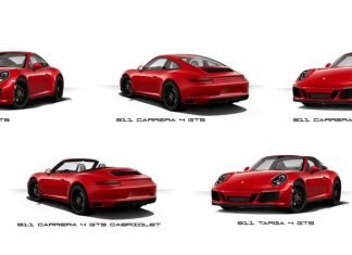 5 versions Porsche 991 GTS présentations Detroit