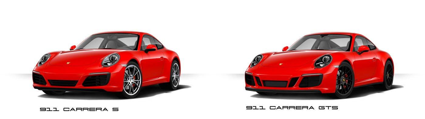 comparaison 911 991 phase 2 MK2 carrera GTS 2017