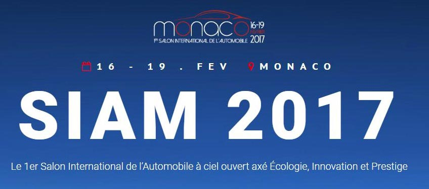 Salon international de l'automobile de Monaco 2017 siam 2017
