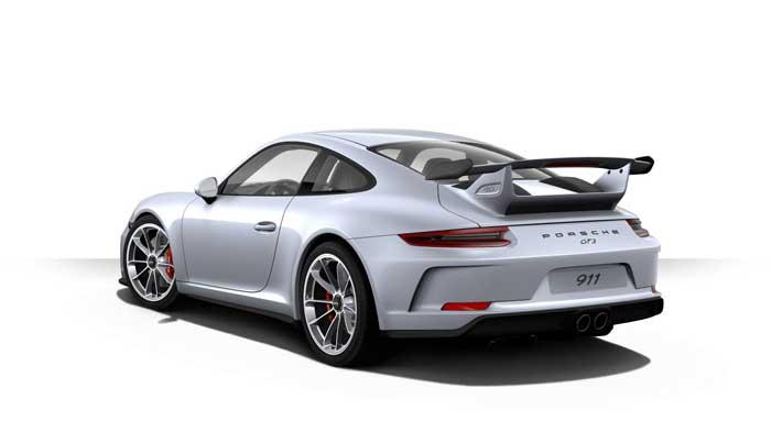 porsche 911 991 MK2 GT3 06 argent rhodium option metal