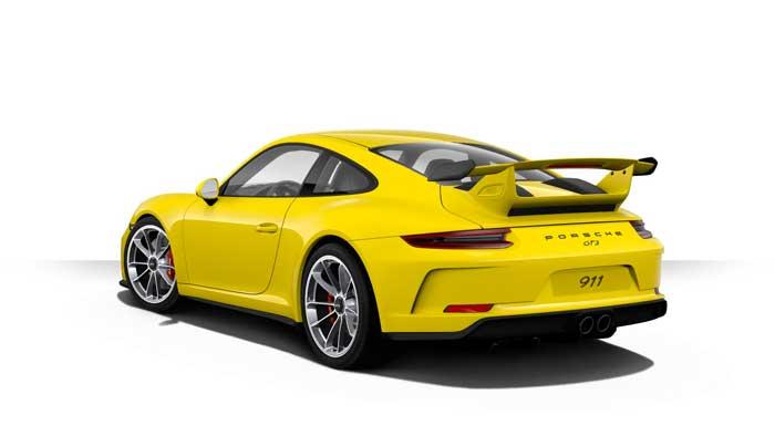 porsche 911 991 MK2 GT3 06 jaune racing série