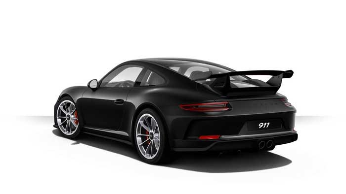 porsche 911 991 MK2 GT3 06 noir intense option metallisee