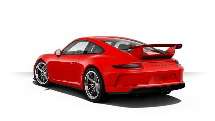 porsche 911 991 MK2 GT3 06 rouge indien série