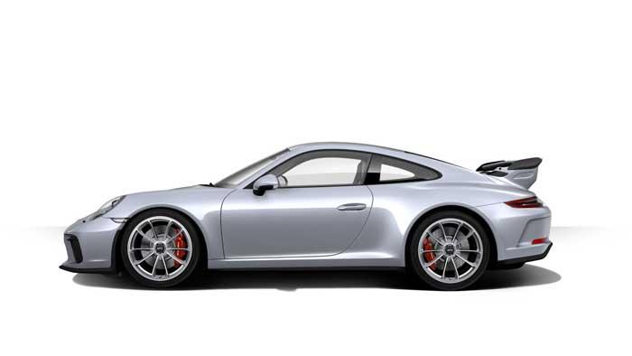 porsche 911 991 MK2 GT3 07 argent rhodium option metallisee