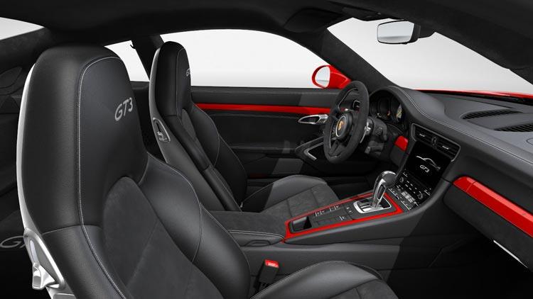 Porsche 911 991 MK2 GT3 Pack intérieur peint