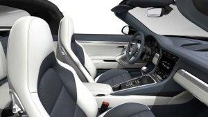 porsche 911 targa interieur Sport tex graphite bleu crayon light