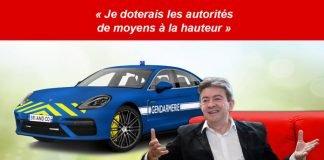 Mélenchon équipe la gendarmerie brigade d'intervention rapide avec des Porsche Panamera Turbo S Hybride