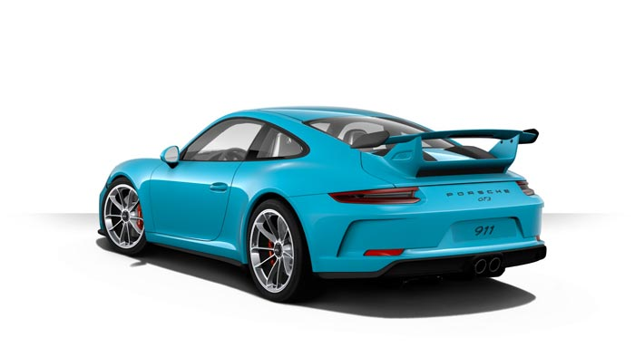 porsche 911 991 MK2 GT3 06 bleue miami option speciale