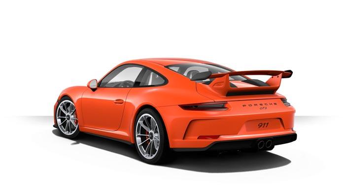 porsche 911 991 MK2 GT3 06 orange fusion option speciale