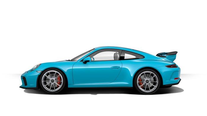 porsche 911 991 MK2 GT3 07 bleu miami option speciale