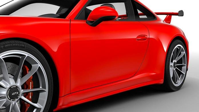 porsche 911 gt3 991 mk2 jupe laterale peinte couleur carrosserie