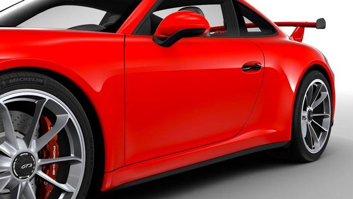 porsche 911 gt3 991 mk2 poignees portes peinte couleur noir 02