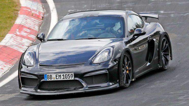 Porsche Cayman 718 GT4 mule SPYSHOT 2018 4 696