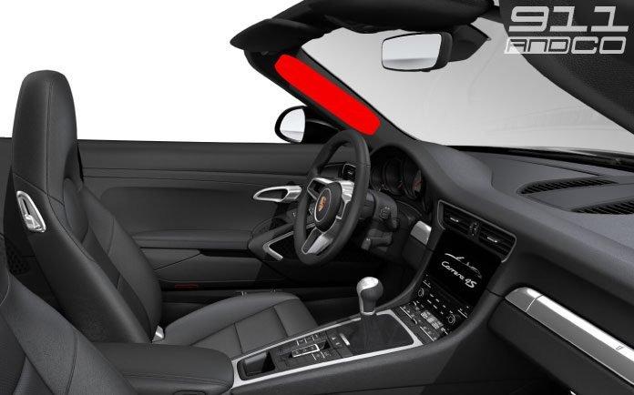 airbag localise dans montant porsche 911 cabriolet 02 696