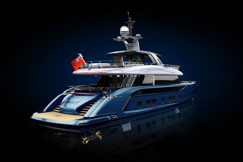 dynamiq gtt 115 hybrid le super yacht porsche 02