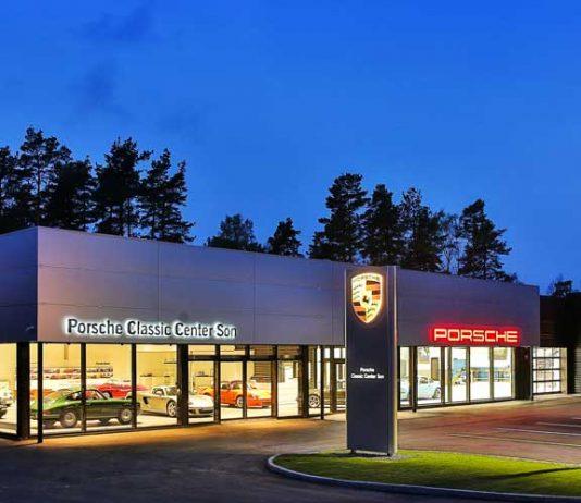 nouveau centre porsche classic norvege