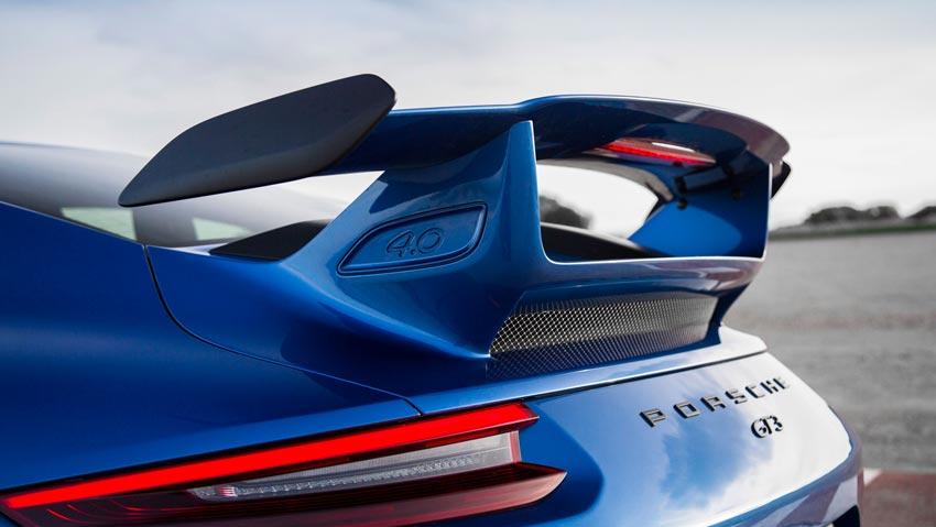 nouvelle porsche 911 gt3 espagne andalousie en couleur bleu saphir métallisée