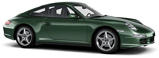 v couleur vert malachite 2b5 WM2 malachitgruen porsche 911 997 carrera targa s 4s mk1