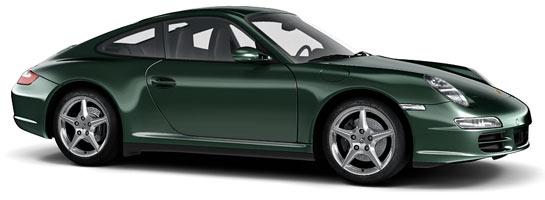 v couleur vert nephrite 2b4 22e gruen tannengruenmetallic porsche 911 997 carrera targa s 4s mk1