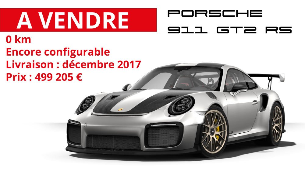 nouvelle porsche 911 gt2 rs la sp culation d marre avant sa livraison. Black Bedroom Furniture Sets. Home Design Ideas