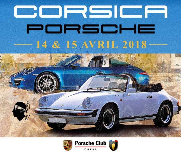 affiche club porsche corse corsica porsche 2018