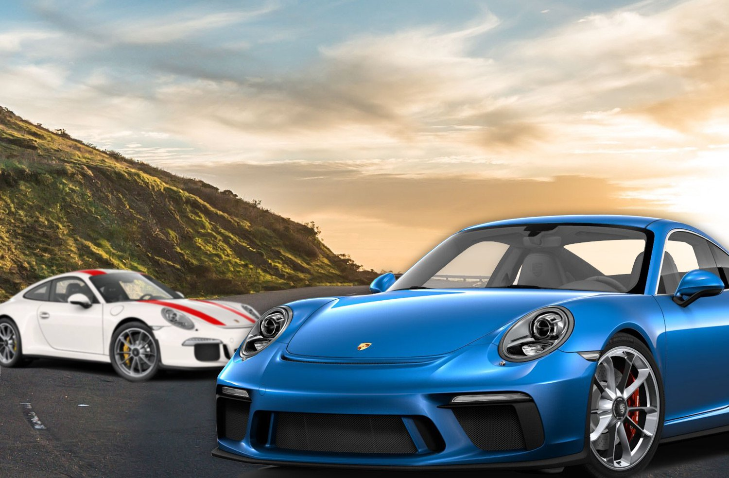 comparatif porsche 911 gt3 pack touring vs 911 r. Black Bedroom Furniture Sets. Home Design Ideas