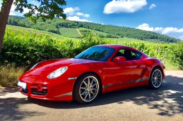 Cayman 987 S 2007 rouge indien indishrot guards red