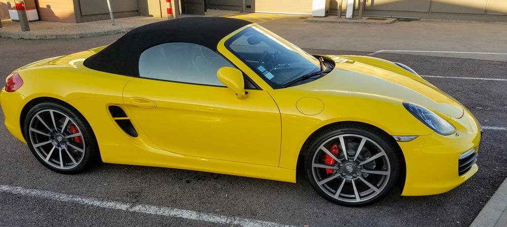 Porsche Boxter S 981 PDK jaune vitesse 2013 01