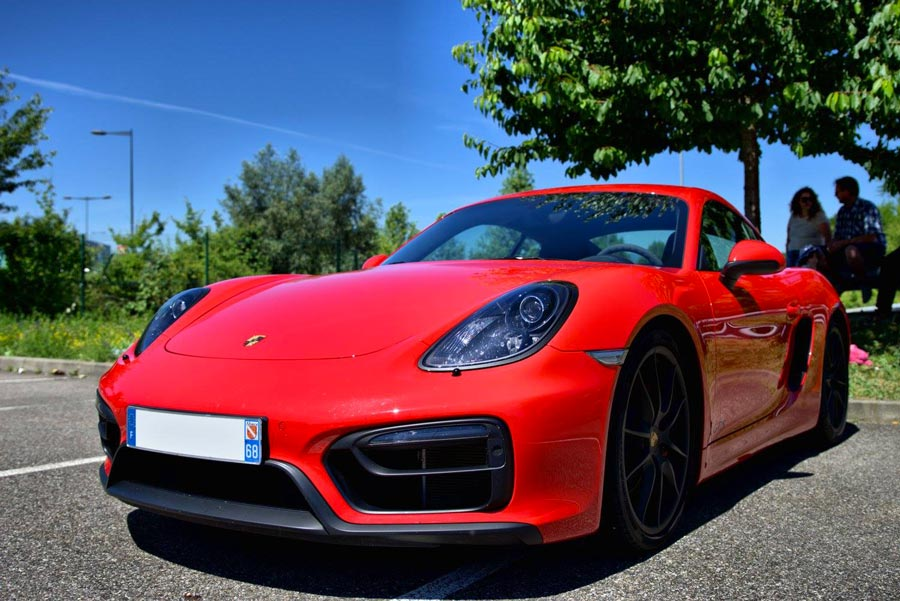 Porsche Cayman GTS 981 2015 rouge indien indishrot red guards 03
