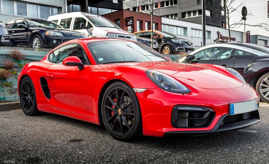 Porsche Cayman GTS 981 2015 rouge indien indishrot red guards 04
