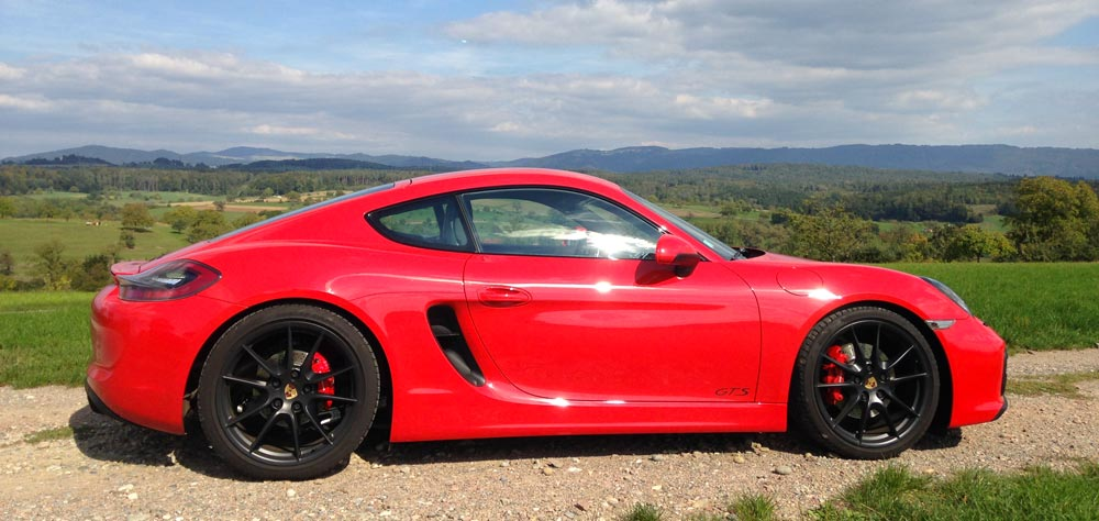 Porsche Cayman GTS 981 2015 rouge indien indishrot red guards 06