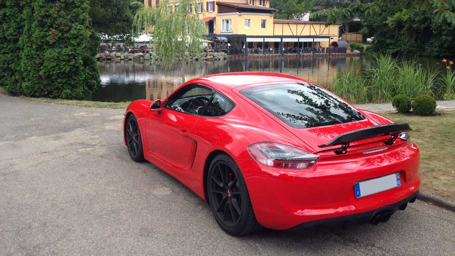 Porsche Cayman GTS 981 2015 rouge indien indishrot red guards 10