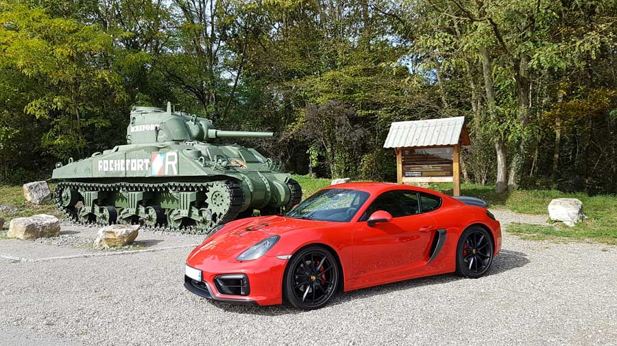 Porsche Cayman GTS 981 2015 rouge indien indishrot red guards 11