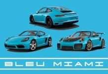 couleur peinture porsche bleu miami 911 carrera s targa gts gt2rs gt3 rs 718 boxster cayman gt4