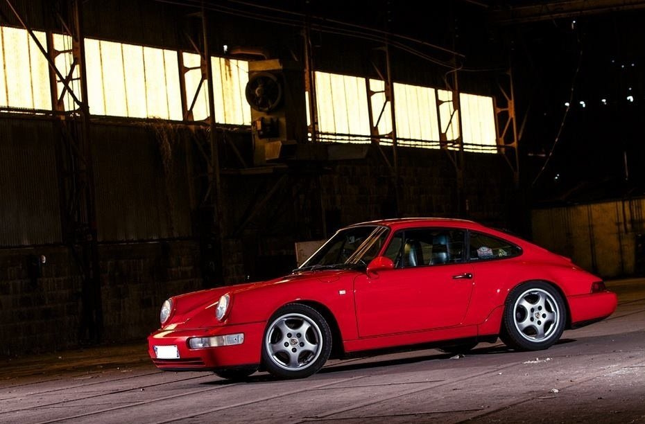 porsche 911 964 rouge indien 1989 01