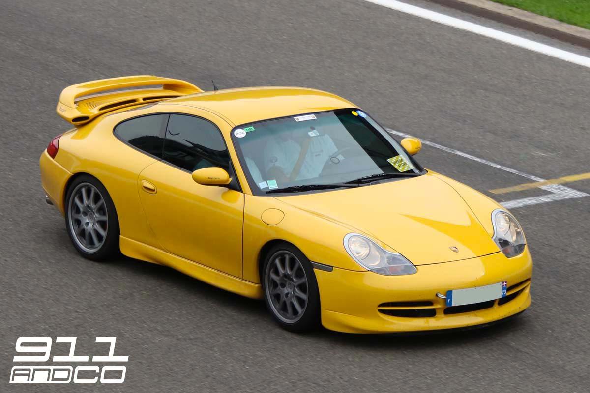 porsche 911 996 gt3 jaune 06 circuit spa francorchamps days