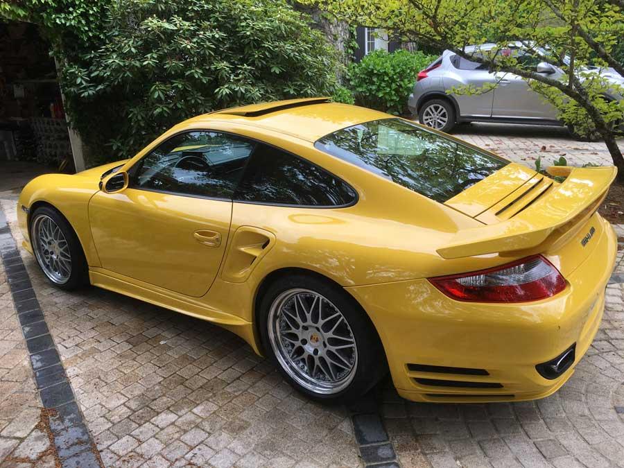 porsche 911 997 turbo speedart btr xl 600 jaune vitesse speed yellow gelb 01