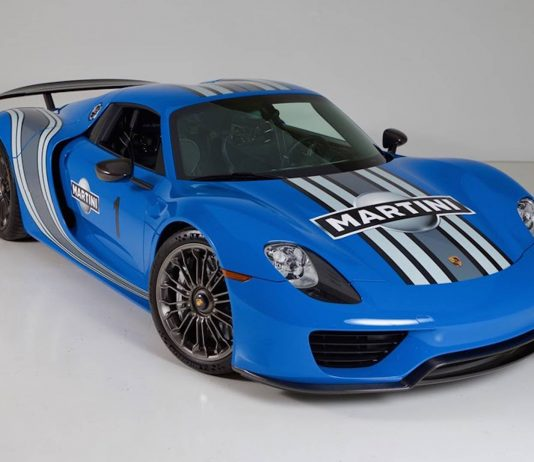 porsche 918 spyder martini bleu blau voodoo blue 01