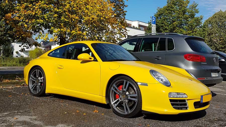 porsche 997 4s X51 2009 jaune vitesse speed gelb yellow 01