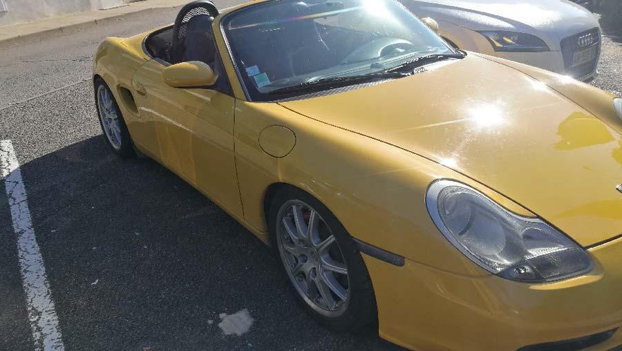 porsche boxster s 2000 jaune vitesse speed gelb yellow 01
